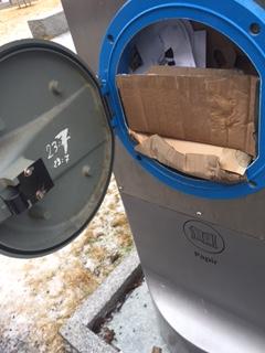 Papir og papp må rives opp tilstrekkelig for å unngå tett hydrant